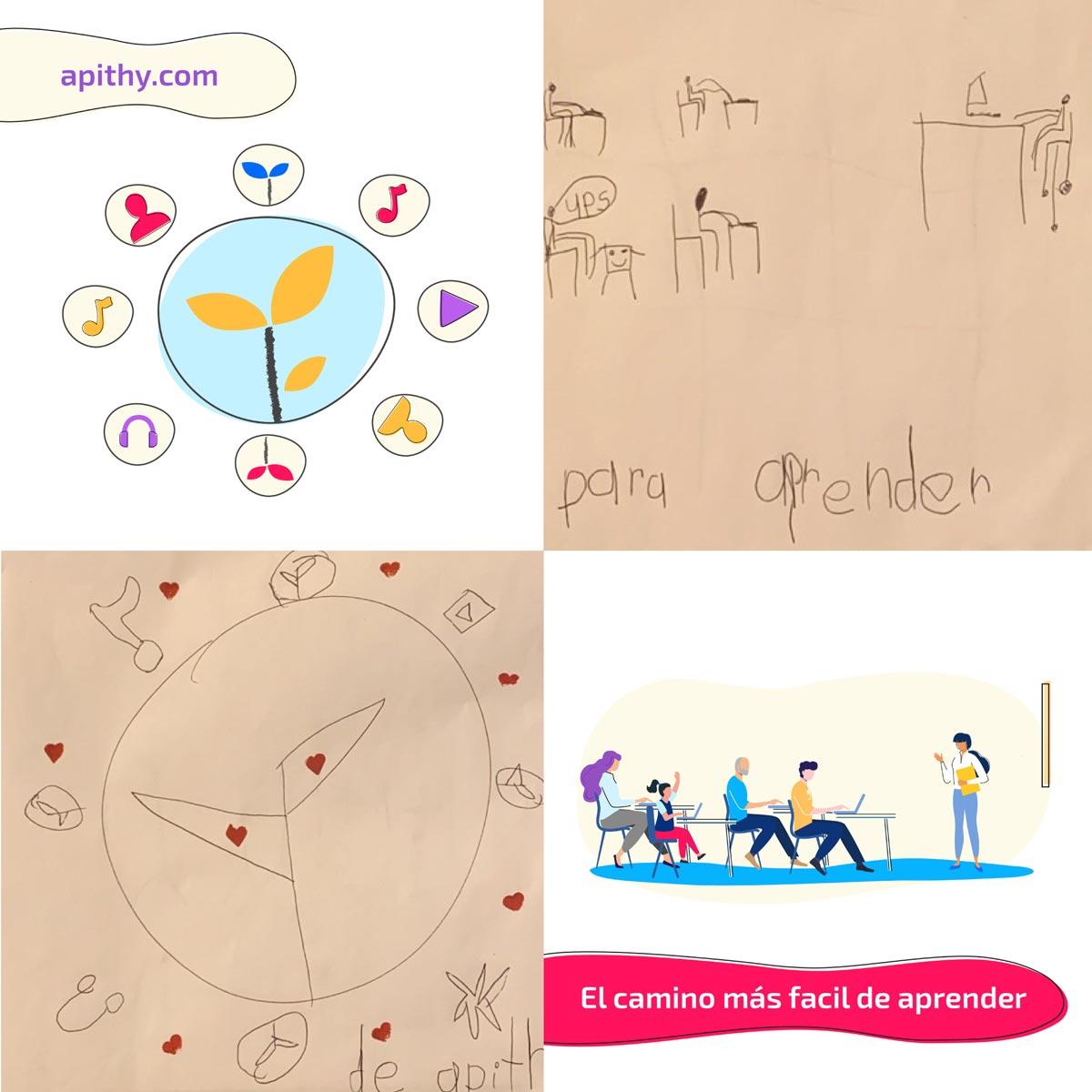 La hija de nuestros fundadores realizó un dibujo sobre lo que para ella significa apithy: una empresa facilitadora del conocimiento y el aprendizaje digital.